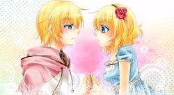 Cotton candy kiss