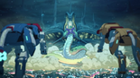 The Blue Lion & the Yellow Lion vs. Worm Monster