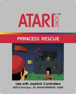 Atari 2600 Princess Rescue box art
