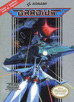 Gradius NES cover