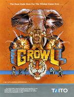 Growl arcade flyer