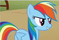 Rainbow dash evil looking