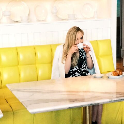 File:Emily drinking coffee in yellow room so cute and adorable.JPG