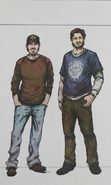Early Concept of Luke and Nick (Telltale Official)