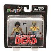 Walking Dead Minimates Series 5 Survivor Morgan and Geek Zombie 2-pk
