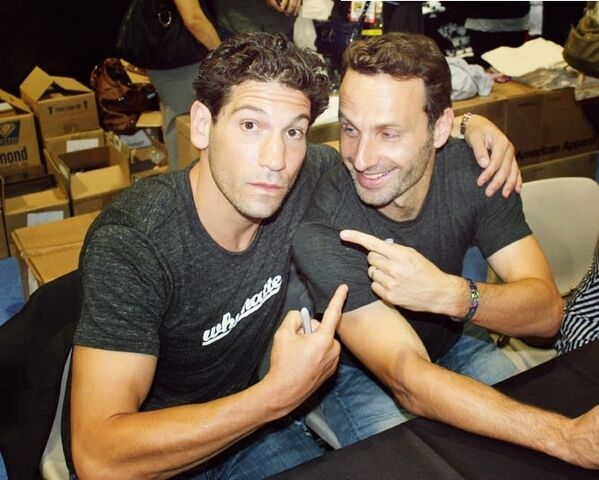 File:Jon Bernthal (Shane Walsh) (TV) And Andrew Lincoln (Rick Grimes) (TV).jpg