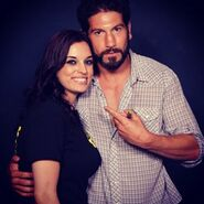 Bernthal with Fan