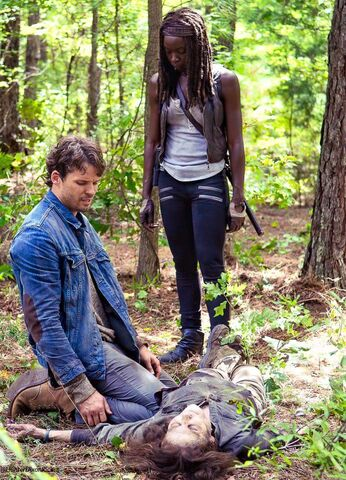 File:The Next World Michonne and Spencer.jpg