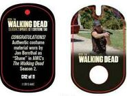 The Walking Dead - Dog Tag (Season 2) - Jon Bernthal CR2 (AUTHENTIC WORN COSTUME PIECE)