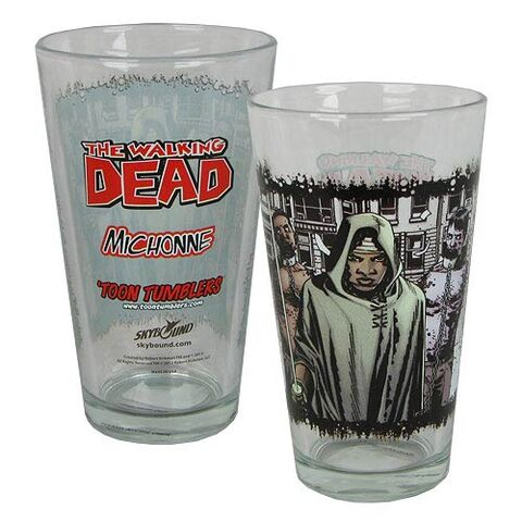 File:Michonne Comic Series Pint Glass.jpg