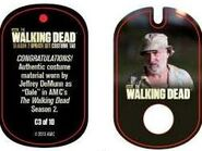 The Walking Dead - Dog Tag (Season 2) - Jeffrey DeMunn C3 (AUTHENTIC WORN COSTUME PIECE)