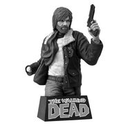 Rick Grimes Vinyl Bust Bank Black and White