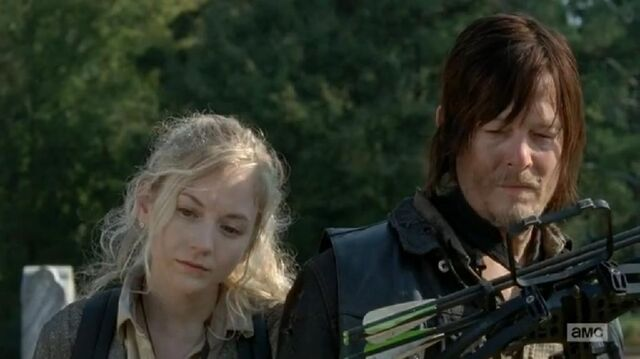 File:Beth and Daryl sad at loving father grave.JPG