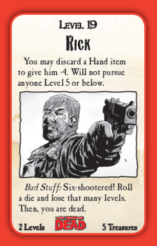File:Munchkin Zombies- The Walking Dead Rick card.png