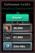 Collossus-Lv10(WF-Lv10)Repairs