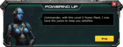 Level 5 Powerplant Message