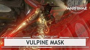 Warframe Stance Vulpine Mask stancespotlight