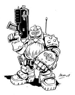 Squat Trooper by NachoMon