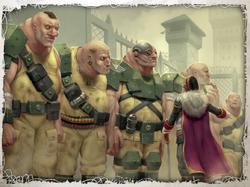 Ogryn Squad Commissar