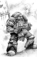 Bad Moon Ork in Armour