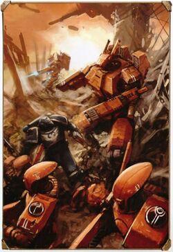 Tau vs. Space Marines Damocles Crusade