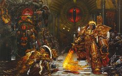 Emperor Confronts Horus