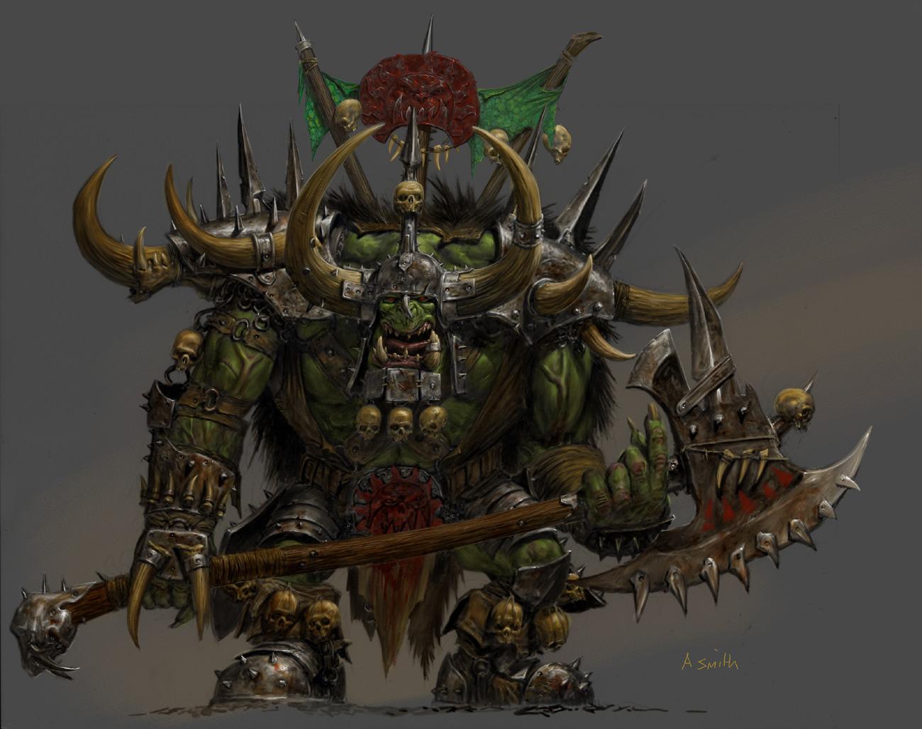orc warboss warhammer wiki fandom powered by wikia