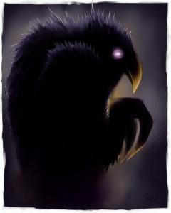 raven crow half man - photo #6