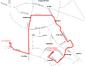 Trasa linii 104 w latach 1992-1993