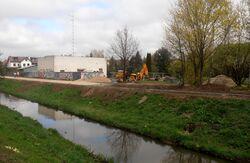 Kanał Bródnowski, Lecha (budowa promenady).JPG