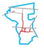Schemat ścieżek rowerowych w Wesołej