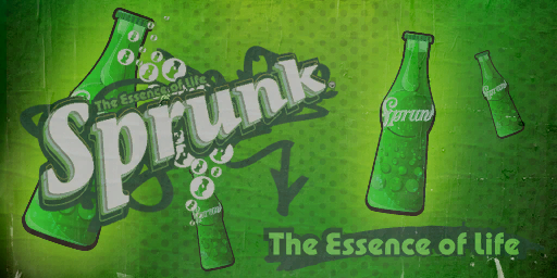 Sprunk logo from GTA. Minecraft Project
