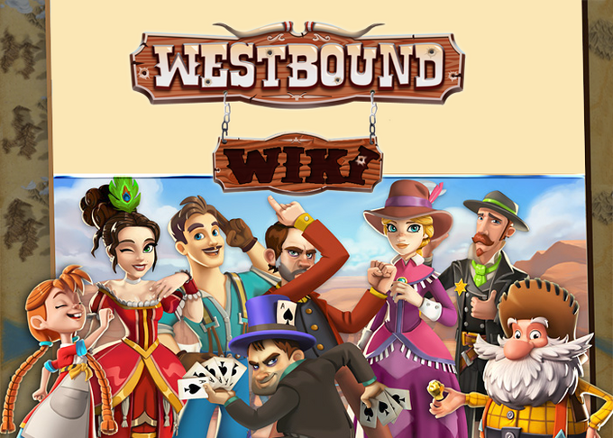 Westbound sign and characters