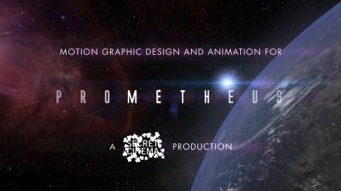Secret Cinema - Prometheus - Motion Graphics