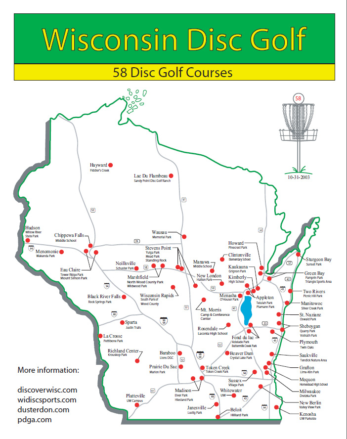 Disc Golf Course Chronology  Wisconsin Disc Sports