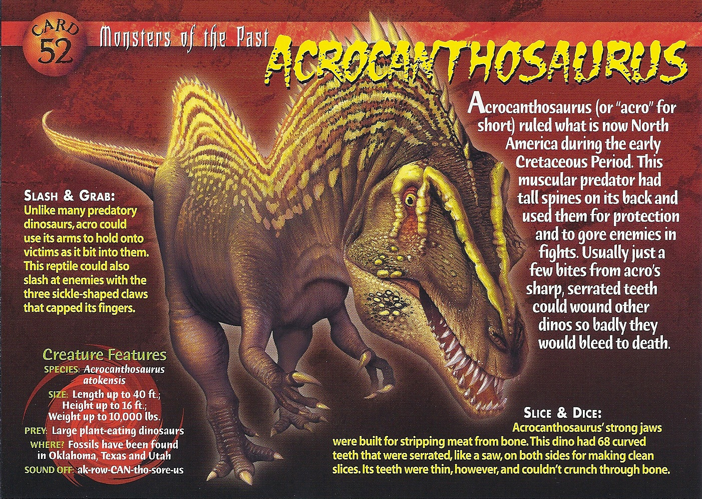 Acrocanthosaurus | Wierd N'wild Creatures Wiki | FANDOM powered by ...