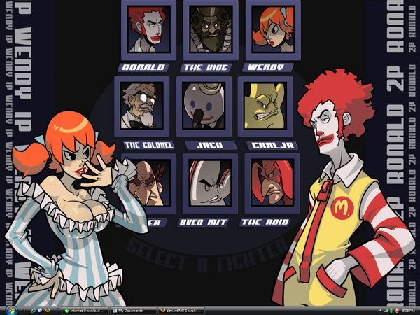 File:Food Mascot Fighter Desktop by TriggerHappyWTF.png