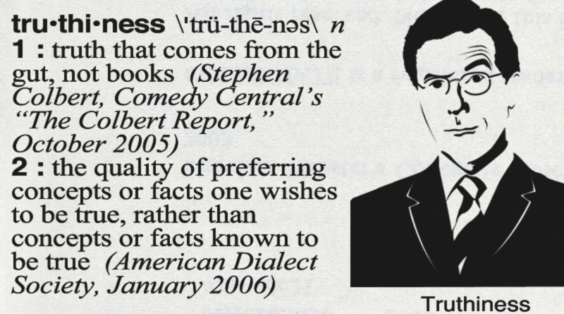 Stephen Colbert and the Definition of Truthiness