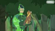 Chris holding Golden Bamboo Lemur