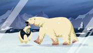 Polar Bear holding Martin