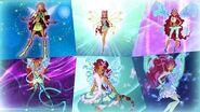 Winx Club - Aisha All Full Transformations up to Tynix! HD!