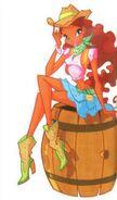 Cowboy Layla sitting on barrel