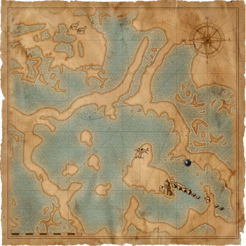 Map to Raven's crypt