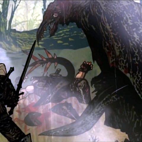 Geralt helping Letho against Slyzard
