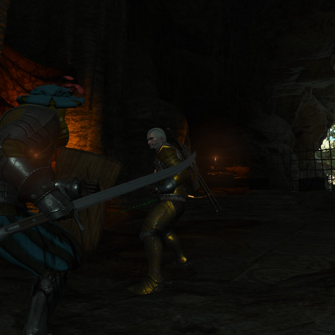 Geralt fighting against the Halfbreed.