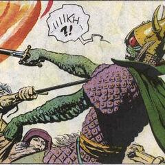 Korin killing a vran.