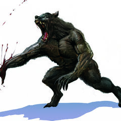 The final concept drawing for the werewolf