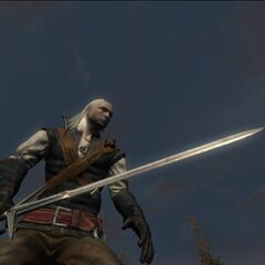 Geralt before a fight