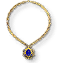Tw3 gold sapphire necklace
