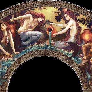 Concept art of arc above entrance